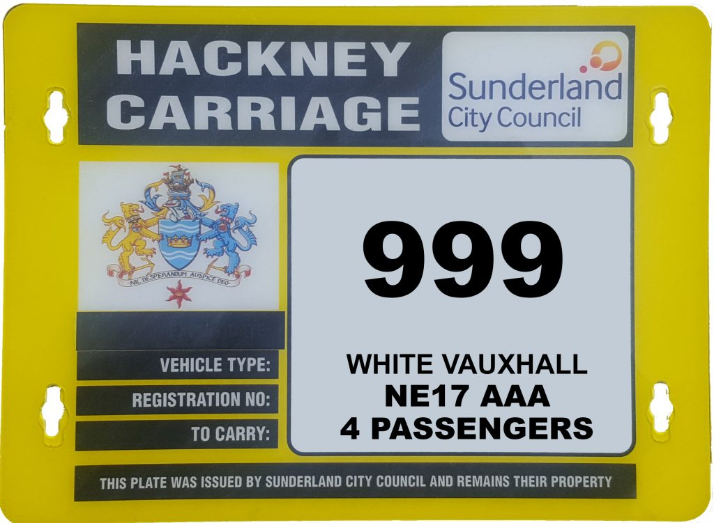 Hackney plate